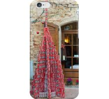 Coke-tin Christmas tree, Pienza, Tuscany, Italy iPhone Case/Skin