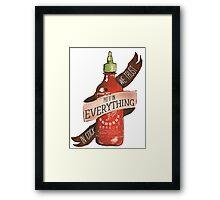 Sriracha Framed Print