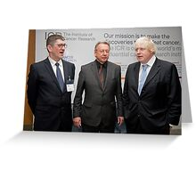 Niall Bolger with Paul Workman and Boris Johnson Greeting Card