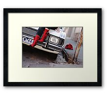 Amanda's Red Boots Framed Print
