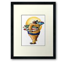 Sumo surf shop II Framed Print