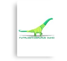Pixel Futalognkosaurus Canvas Print