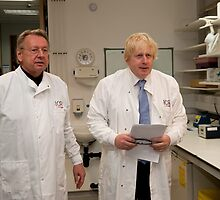 Boris Johnson with Paul Workman by Keith Larby
