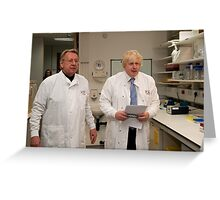 Boris Johnson with Paul Workman Greeting Card