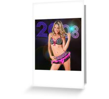 blonde showgirl Greeting Card