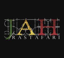 JAH Rastafari WHT Kids Clothes