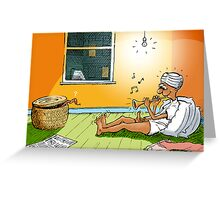 Snake Charmer Greeting Card