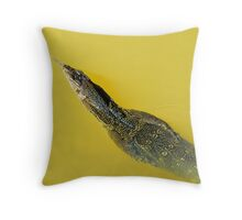 Asian Water Monitor [ Varanus salvator salvator ] Throw Pillow