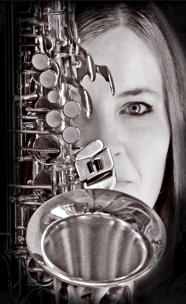 Sax Love Music Baby by Rhana Griffin