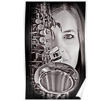 Sax Love Music Baby Poster