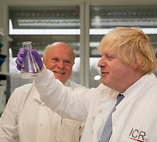 Boris Johnson with chief scientist Tony Ford by Keith Larby