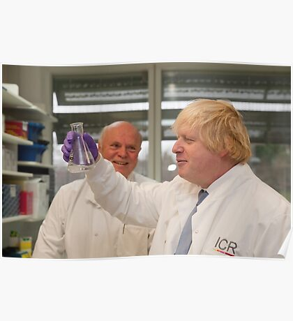 Boris Johnson with chief scientist Tony Ford Poster