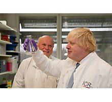 Boris Johnson with chief scientist Tony Ford Photographic Print
