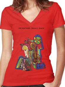 One Man Band Women's Fitted V-Neck T-Shirt
