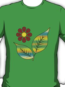 Leaves and flower T-Shirt