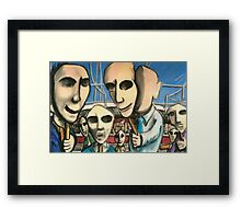 Public Faces Framed Print