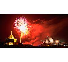 Sydney, New Years Fireworks Photographic Print