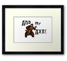 Gimli goes rock! Framed Print