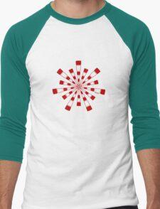 Mandala 31 Colour Me Red Men's Baseball ¾ T-Shirt