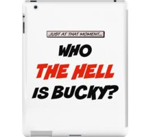 Who The Hell Is Bucky - Comic Style iPad Case/Skin