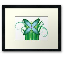 Floral Greenery Framed Print