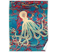 Marbling Paper Octopus Blob by Pepe Psyche Poster