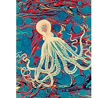 Marbling Paper Octopus Blob by Pepe Psyche Photographic Print
