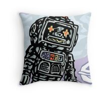Flying Robot Throw Pillow