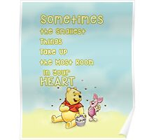 Winnie the Pooh - Firend Quote Disney Poster