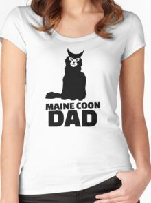 Maine coon cat dad Women's Fitted Scoop T-Shirt