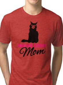 Maine coon cat mom Tri-blend T-Shirt