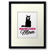 Maine coon cat mom Framed Print