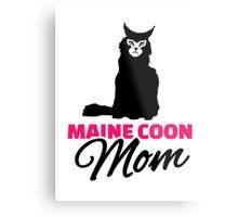 Maine coon cat mom Metal Print