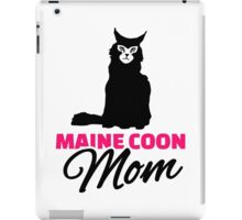 Maine coon cat mom iPad Case/Skin