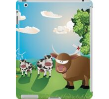 Cows and Bull on Lawn iPad Case/Skin