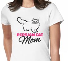Persian cat mom Womens Fitted T-Shirt