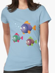 Colorful fishes Womens Fitted T-Shirt