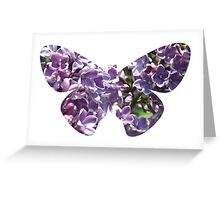 Flying lilac tree Greeting Card