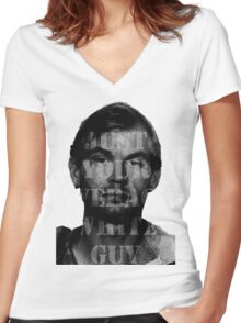 Jeffrey Dahmer Was Your Average White Guy Women's Fitted V-Neck T-Shirt