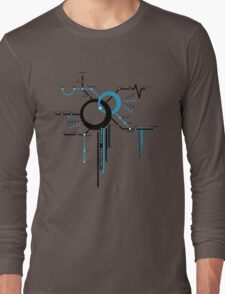 LIGHTSPEED STATION (The Future of Travel) - blue Long Sleeve T-Shirt