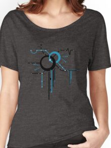 LIGHTSPEED STATION (The Future of Travel) - blue Women's Relaxed Fit T-Shirt