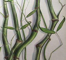Crook Stem Bamboo by Randy  Burns