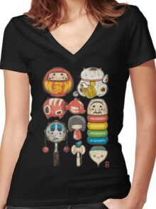 [Special Lucky Toy Box] Women's Fitted V-Neck T-Shirt