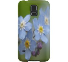 Close-up Forget Me Not - Blue Myosotis Samsung Galaxy Case/Skin
