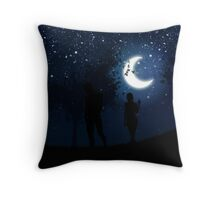 Walking at night Throw Pillow