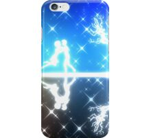 White silhouettes on colorful background iPhone Case/Skin