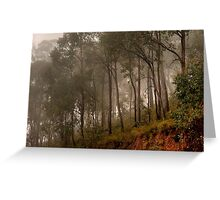 Foggy Rise Greeting Card