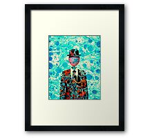 Surrealist Balloon Gentleman Blob by Pepe Psyche Framed Print