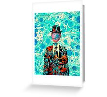 Surrealist Balloon Gentleman Blob by Pepe Psyche Greeting Card