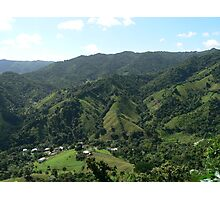 Puerto Rico Countryside Photographic Print